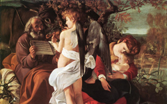 Caravaggio's Rest on the Flight into Egypt (c.1597)