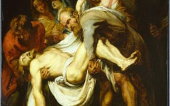 Rubens' Copy of Caravaggio's Entombment (1612-14)