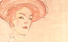 Schiele's Portrait of a Lady in an Orange Hat (1910)