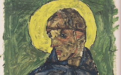 Schiele's Self-portrait as a Saint (1913)