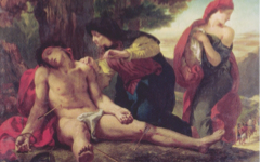 Delacroix's St. Sebastian Helped by the Holy Women (1836)