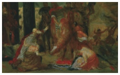 Degas' Study of Delacroix's Entry of the Crusaders into Constantinople (c.1860)