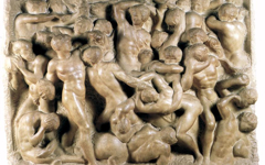 Michelangelo's Battle of the Lapiths and Centaurs (c.1492)