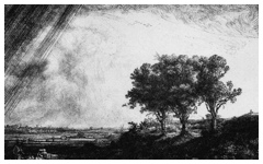 Rembrandt's The Three Trees (1643)
