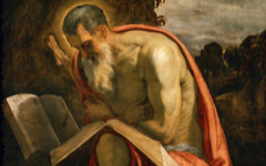 Tintoretto's St. Jerome in the Wilderness (1570's)