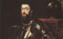 Rubens' Copy of Titian's Charles V in Armor with a Drawn Sword (c.1603)