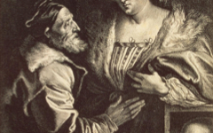 Van Dyck's Titian and His Mistress (1630's)