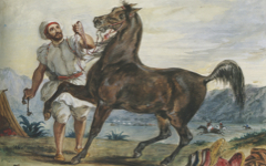 Delacroix's Arab with His Steed or Turk Leading His Horse (c. 1832-3)