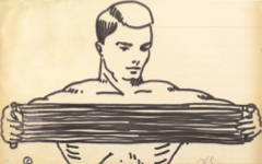 Lichtenstein's Untitled or Man with Chest Expander (c.1961)
