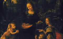 Leonardo's Virgin of the Rocks (1483-6)