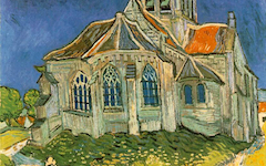 Van Gogh's Church in Auvers-sur-Oise (1890)