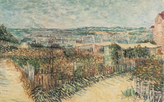 Van Gogh's Vegetable Gardens at Montmartre (1887)