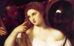 Titian's Woman with a Mirror (1512-15)