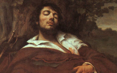 Courbet's The Wounded Man (1844-54)